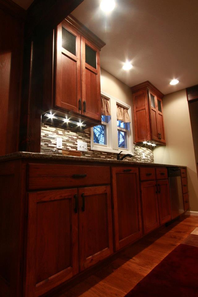 hickory craftsman painted island schmidt custom cabinetry. Black Bedroom Furniture Sets. Home Design Ideas