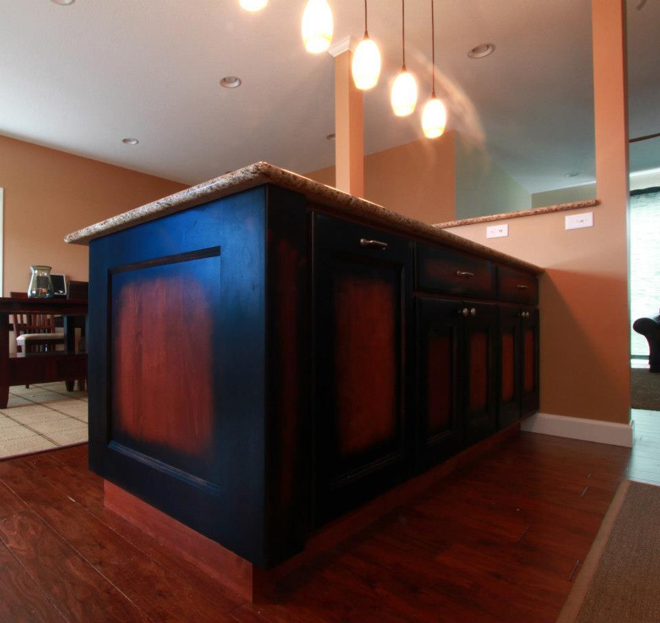 Maple Flat Panel With Contrasting Island Schmidt Custom