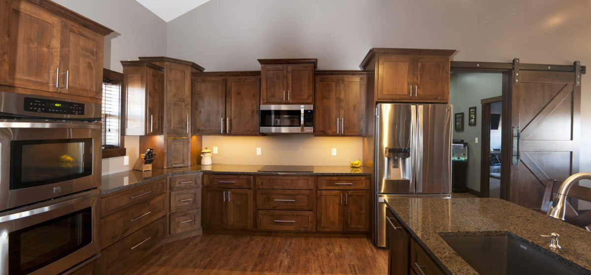Solid wood, hand made kitchen cabinetry
